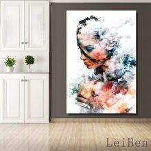 Affiche de femme abstraite de Style minimaliste nordique, peinture décorative d'art mural pour salon, décor mural de fond de maison