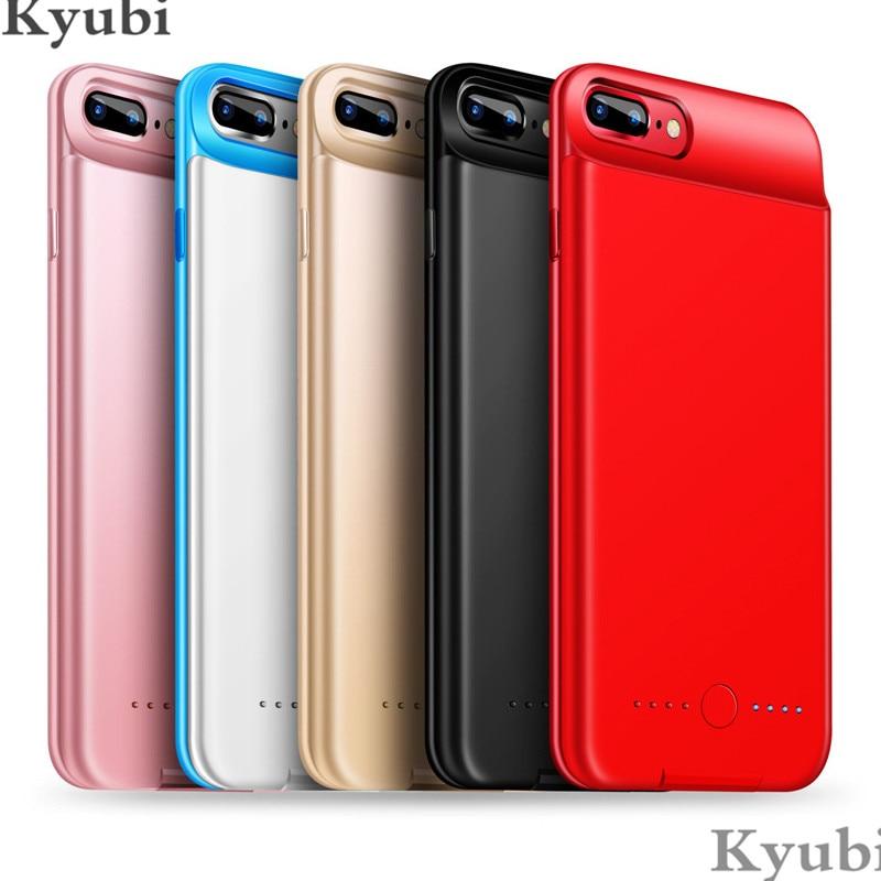 5000mah portable chargeur de batterie étui pour iphone 6 6s 7 8 plus ultra mince externe sans fil de charge pour iphone 6 6s 7 8 plus