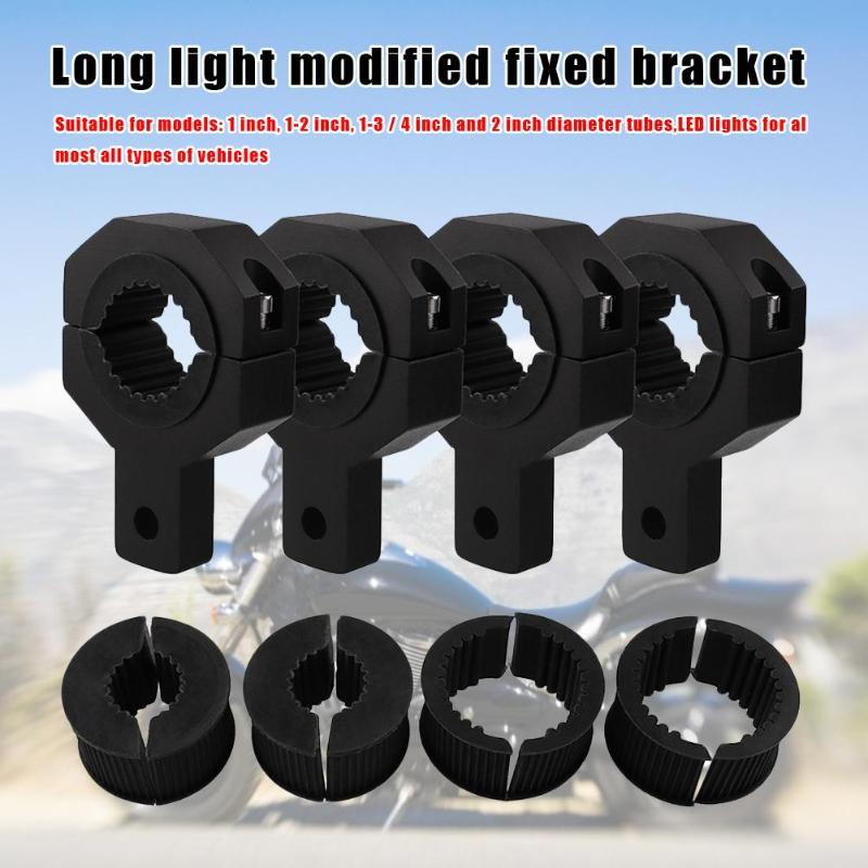Off-Road Light Mounting Bracket Kit Aluminium Alloy Bull Bar Roof Rack Vertical Tube Clamps Modified Motorcycle Parts