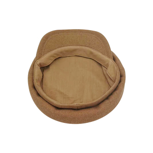 Image 3 - Jednolity kolor granatowe czapki dla kobiet jesień zima nowa moda wielbłąd i czarne wygodne Casual Vintage ciepłe czapki wojskowe damskie
