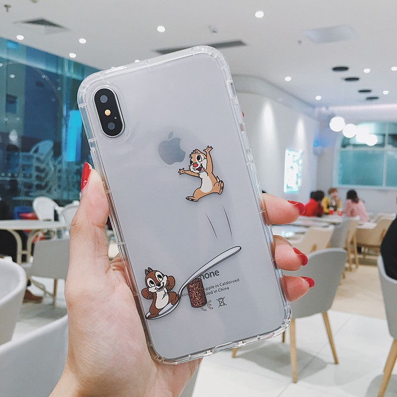 Cartoon Chip Dale Squirrel Transparent Phone Case For Iphone 11 Pro 7 8 6 S Plus X Xs Max Xr Cute Game Soft Clear Coque Cover Aliexpress