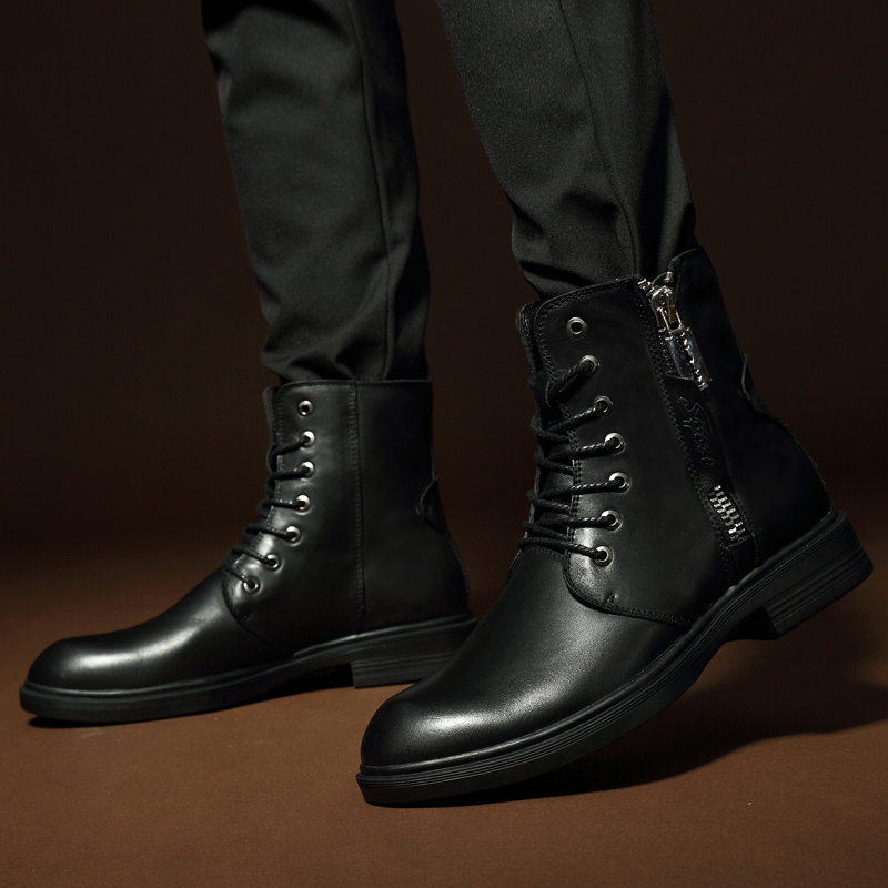 Мужские ботинки 2019 г. Новые Модные износостойкие зимние ботинки из искусственной кожи мужские рабочие ботинки зимние теплые ботинки 36 46*9918 - 5