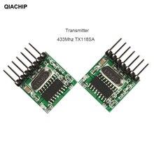 Qiahip 433 mhz 수퍼 헤테로 다인 rf 송신기 및 수신기 모듈 arduino uno 무선 모듈 diy 키트 용 원격 제어 스위치