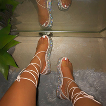 2020 Sandals Shoes Summer Platform Women Transparent Ankle S