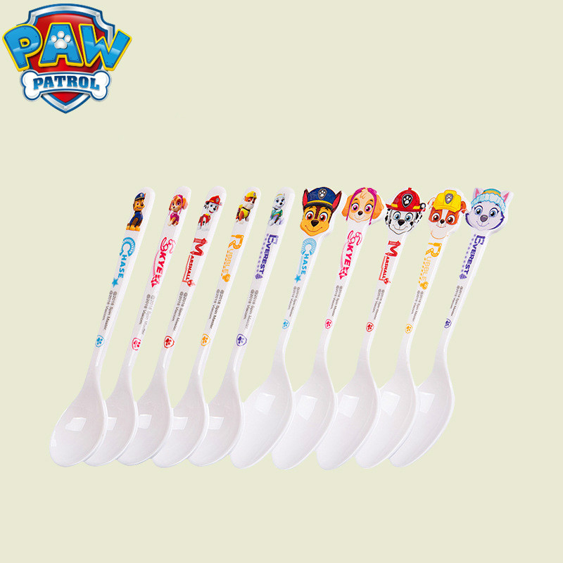 PAW Patrol Cute Children's Milk Spoon Figure Marshall Chase Everest Puppy Print Party Kids Birthday Children Gift Utensils