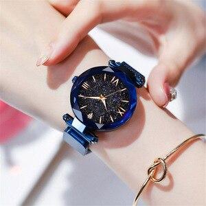 Image 5 - Dropshipping นาฬิกาผู้หญิงหรูหราแม่เหล็ก Starry Sky นาฬิกาควอตซ์นาฬิกาข้อมือแฟชั่นผู้หญิงนาฬิกาข้อมือ Relogio Feminino