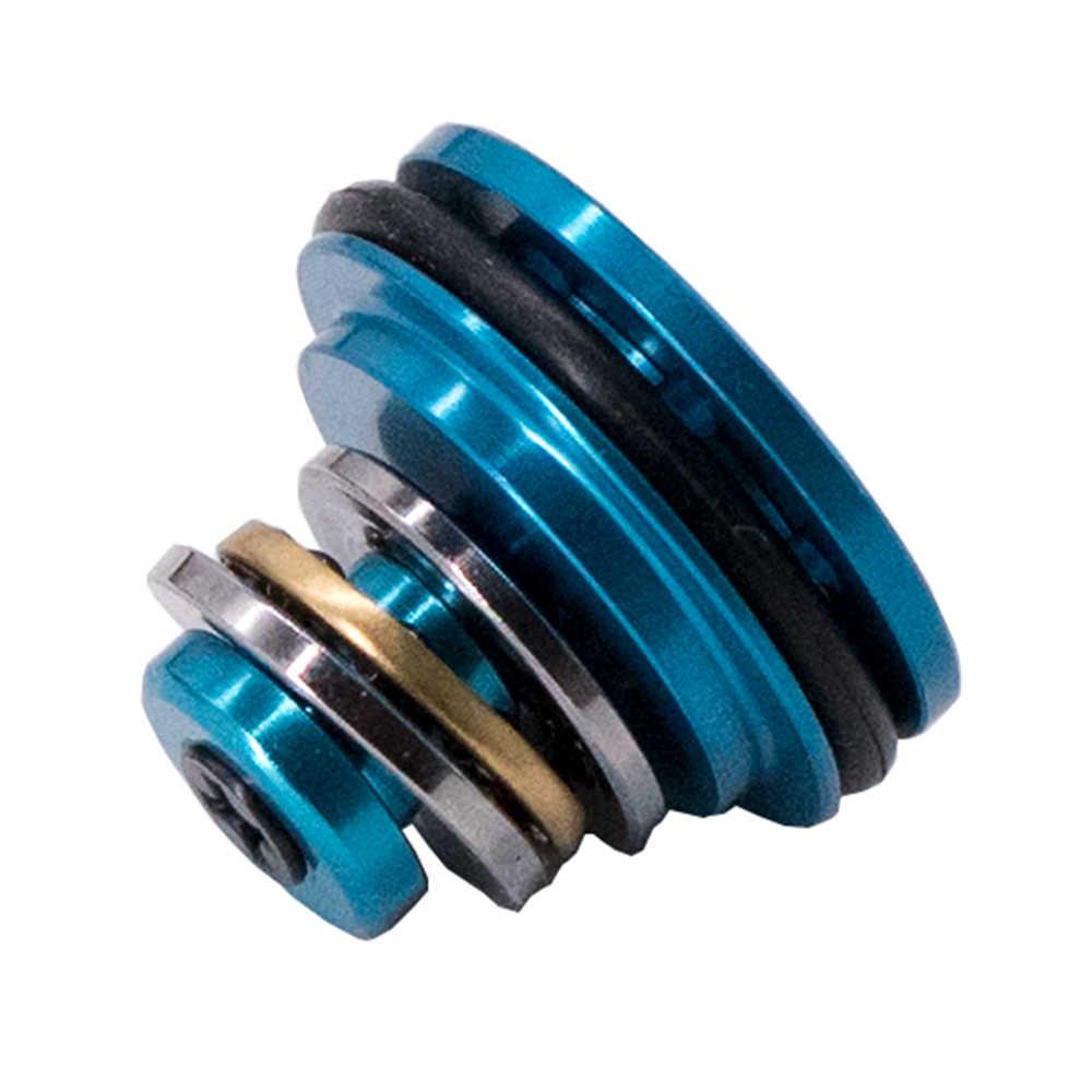 Airsoft cnc de alumínio o-ring rolamento de esferas aeg 8 furos cabeça de pistão tipo avançado para aeg v2/3 caixa de velocidades acessórios paintball