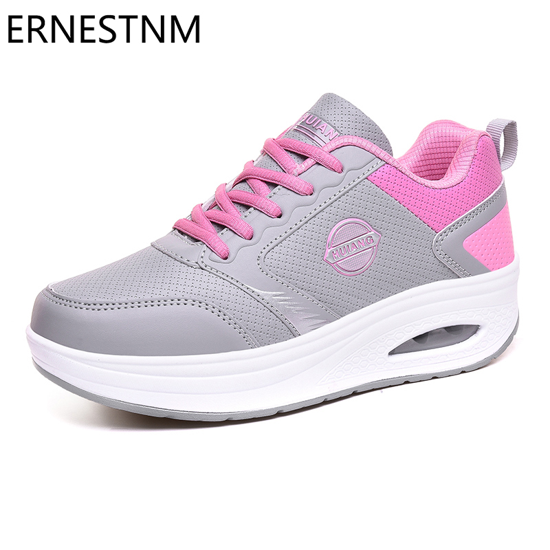 ERNESTNM Women Shoes Flats 2020 New Arrival Sneakers Casual Ladies Shoe PU+Mesh Breathable Sneakers Women Flat Zapatos De Mujer