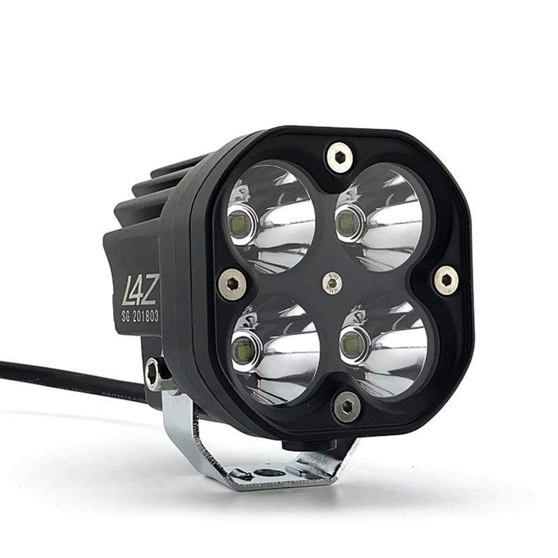 Universal 60W Motorcycle LED Lights 6500 LM  Spotlight Waterproof Fog Bulb 12V 4 Lamp Beads Motorbike Headlight 2Pcs Headlamp