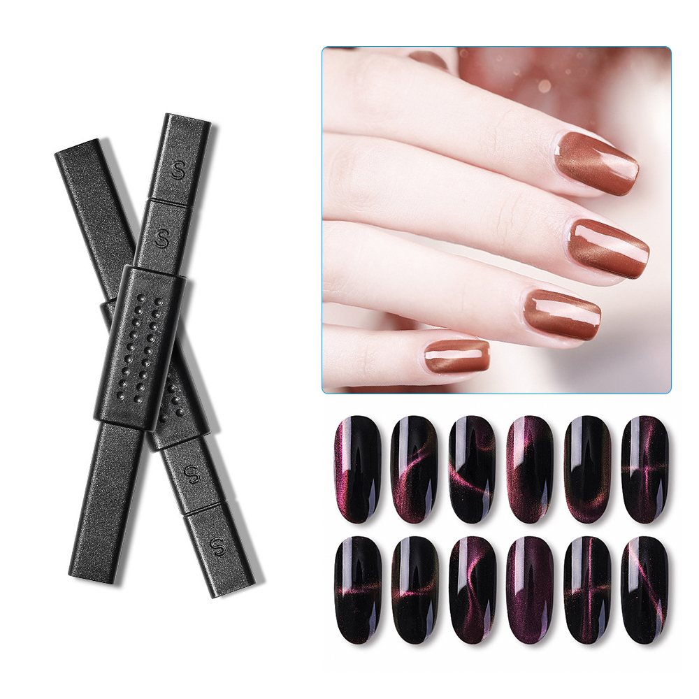 3D Magnet Nail Stick Strong Magnetic Nail Art For 12 Styles Cat Eyes Effect Magnet Board Painting Gel Nail Polish Manicure Tool