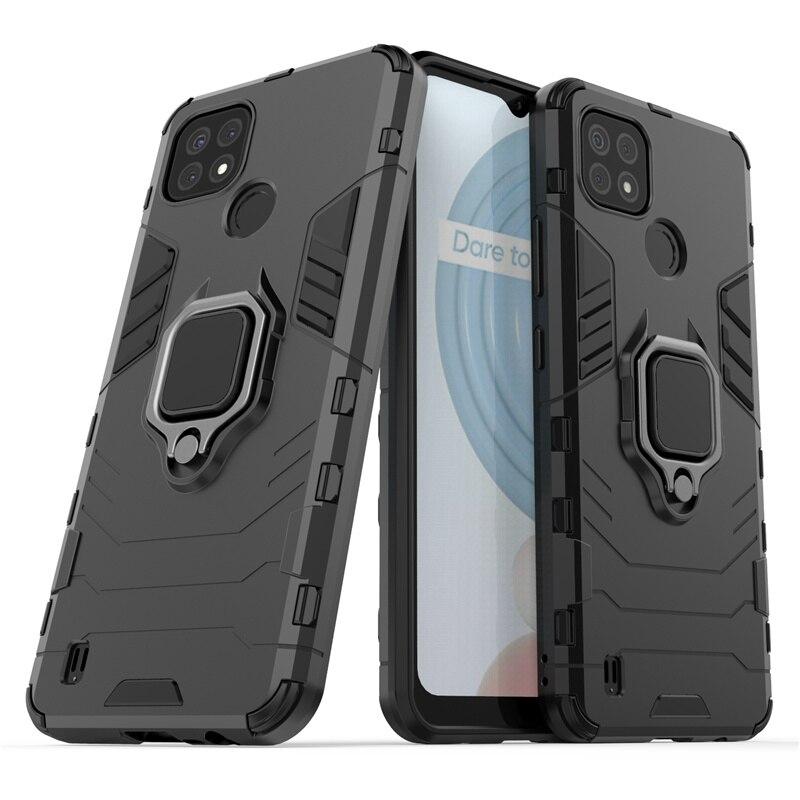 Чехол для телефона для OPPO Realme C21, чехол для Realme C21 Capas, бампер для телефона, держатель для ПК, Магнитный защитный чехол для Realme C20 C21, Fundas