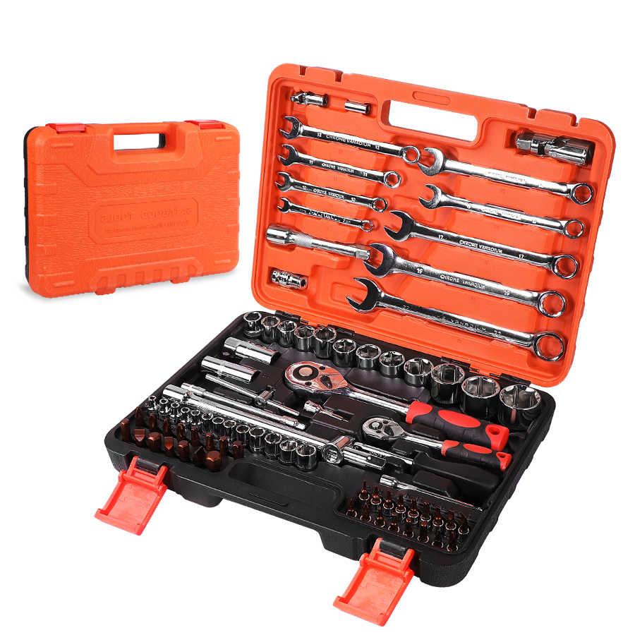 תיקון כלים שקע סט רכב כלים עם אוטומטי מחגר ברגים מברג שקע סט Hex מפתח
