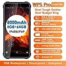 OUKITEL WP5 Pro IP68/IP69K Chắc Chắn Điện Thoại Di Động Chống Nước Octa Core Điện Thoại Thông Minh 5.5Inch Android 10.0 Helio A25 ĐTDĐ dual SIM