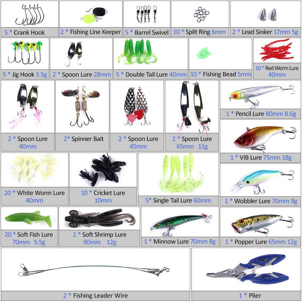 110 шт. рыболовные приманки набор Ассорти искусственный Спиннербейт муляж рыбы для приманки VIB мягкая жесткая катушка Приманка многофункциональные плоскогубцы с коробкой для снастей