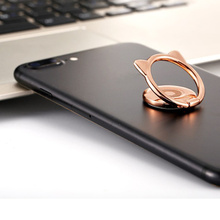 Сплав кошачье ухо милый палец кольцо держатель Магнитный 360 Поворот мобильный телефон подставка для IPhone 8X11 для samsung для Xiaomi для huawei