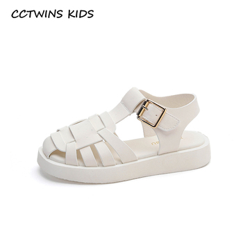 CCTWINS Kids Shoes 2020 Summer Baby Boys Brand Black Flat Children Fashion Beach Sandals Girls Casual Shoes Toddlers BS549