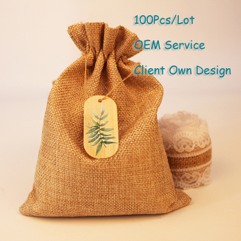 Europe Leaves Organza Bag Tag Natural Burlap Bag Tag White/Brown/Black/Black Kraft Paper Card Printing Hangtag Can Customized image