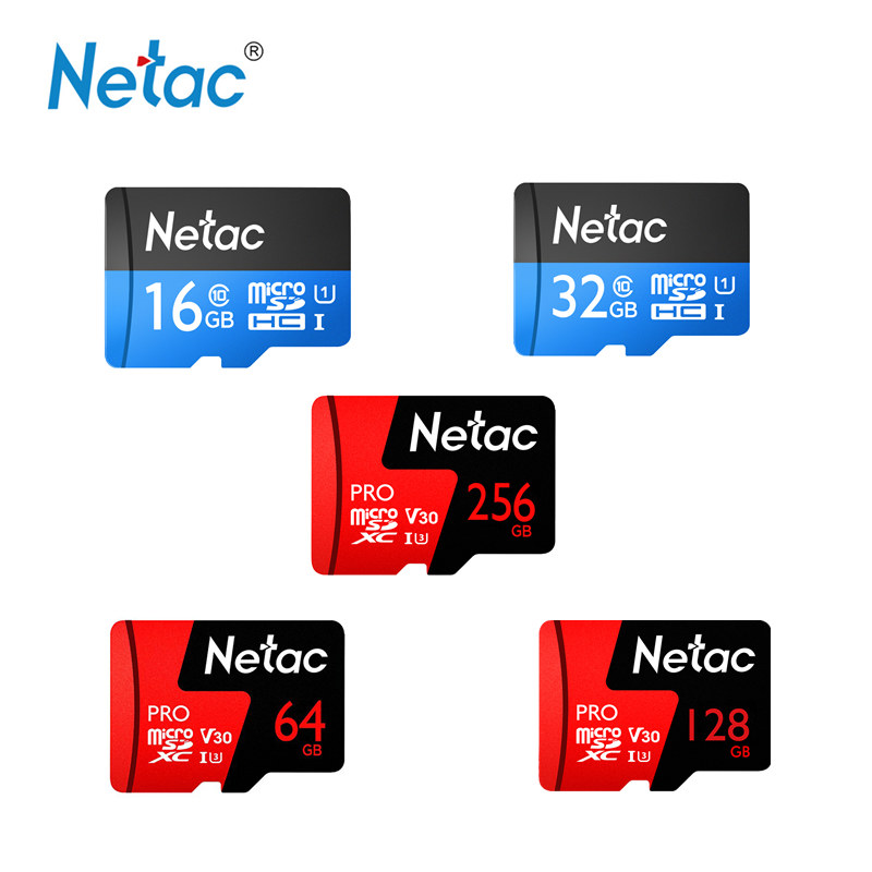 Netac P500 Pro 256GB 128GB 64GB Micro SD SDXC Card TF Card U3 V30 Up To 100MB/s 32GB 16GB Micro SDHC Card U1 Computer Video Card