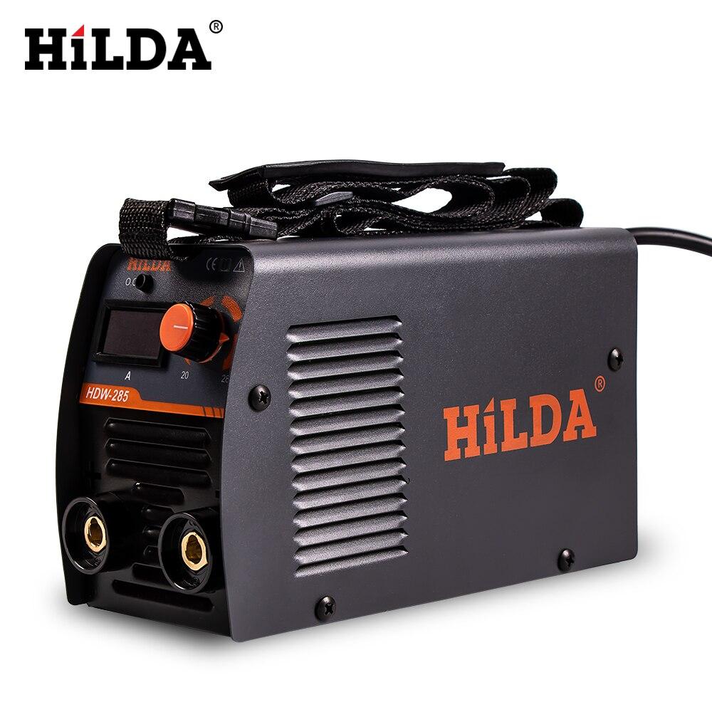 HILDA sprzęt spawalniczy spawacz łukowy s przenośna spawarka wydajny inwerter spawacz łukowy 220V DC dla początkujących w domu
