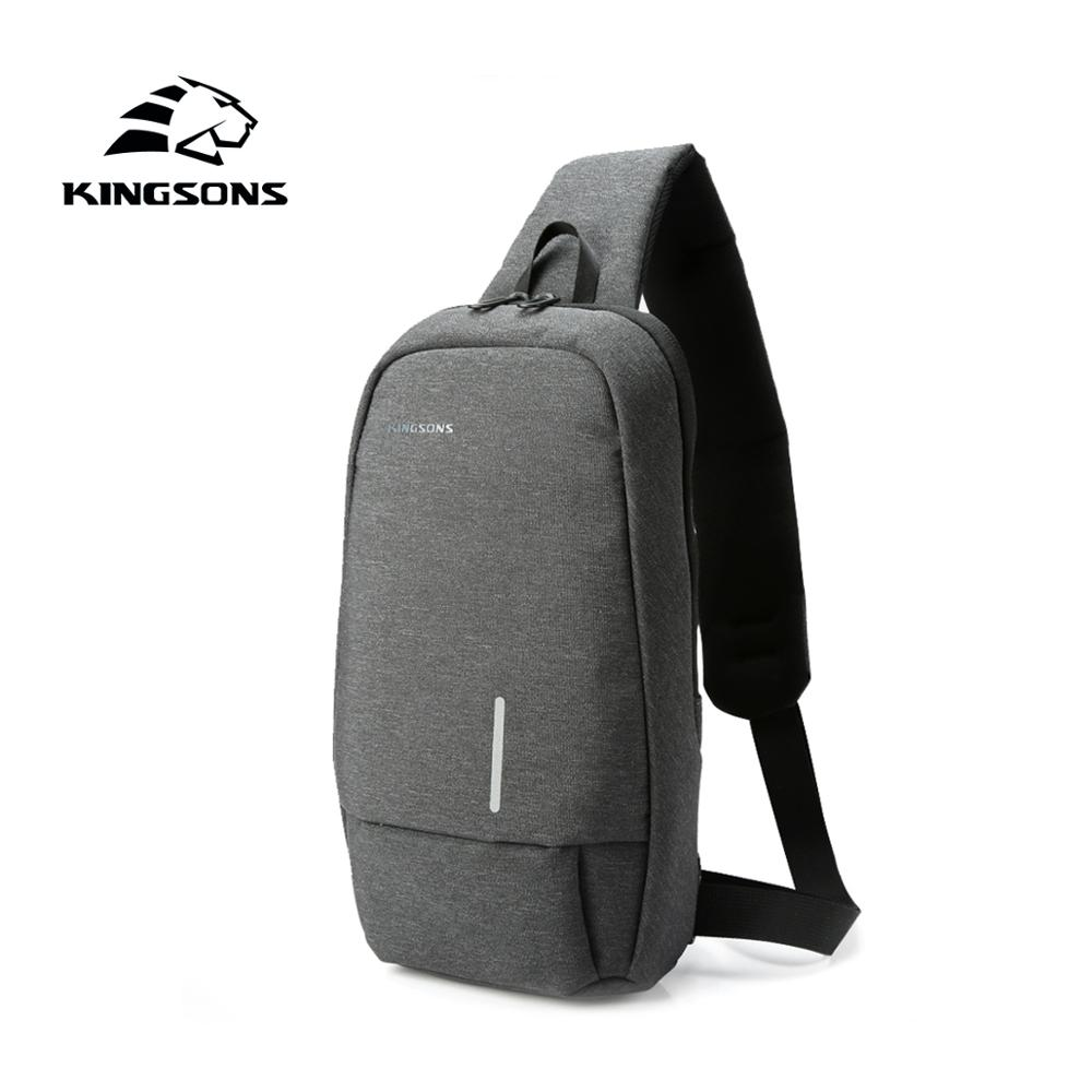 Kingsons 2019 New 3173-A Small <font><b>Backpack</b></font> Men Casual Crossbody Bag Leisure Travel Single Shoulder <font><b>Backpack</b></font> 7.9 inch Chest <font><b>Backpack</b></font> image