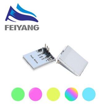 Зеленый синий красный и желтый цвет RGB емкостный сенсорный Переключатель кнопочный модуль 2,7 в до 6 в модуль анти-помех сильный серии httm