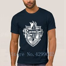 Ravenclaw T-Shirt For Men Round Collar Letters Humor T Shirt Streetwear Camisas Shirt 100% Cotton Slogan Hiphop Top(China)