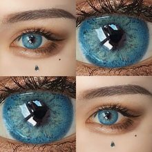 1 par russiangirl taylor dna colorido lentes de contato cor lentes de contato para os olhos contatos com lente de cor olhos azul cinza lentes