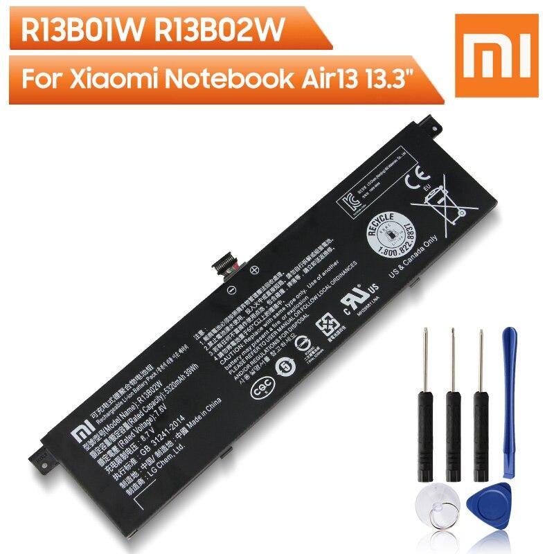 Оригинальный сменный аккумулятор Xiao Mi R13B01W R13B02W для Xiaomi Mi Notebook Air 13 13,3