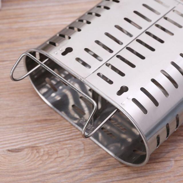 Ze stali nierdzewnej stalowe sztućce uchwyt na ociekaczem do przechowywania łyżka widelec pałeczki Organizer stojak hak kuchnia narzędzia Drop Ship wsparcie