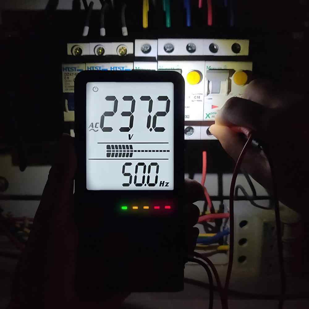 MAXRIENY S9LN Digital Multimeter Dual Mode Tegangan Voltmeter Ohm Kapasitor Dioda Frekuensi NVC Tester Meter Lampu Latar Senter