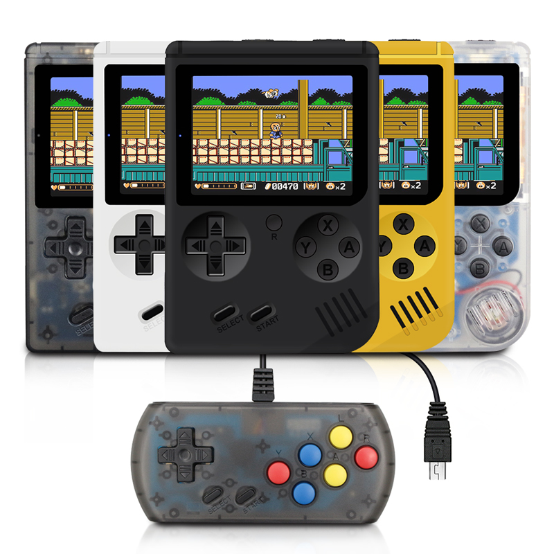 RS-6A Children Retro Mini Portable Handheld Game Console Players 3.0 Inch 168 Built In Classic-FC Games Handheld Game player