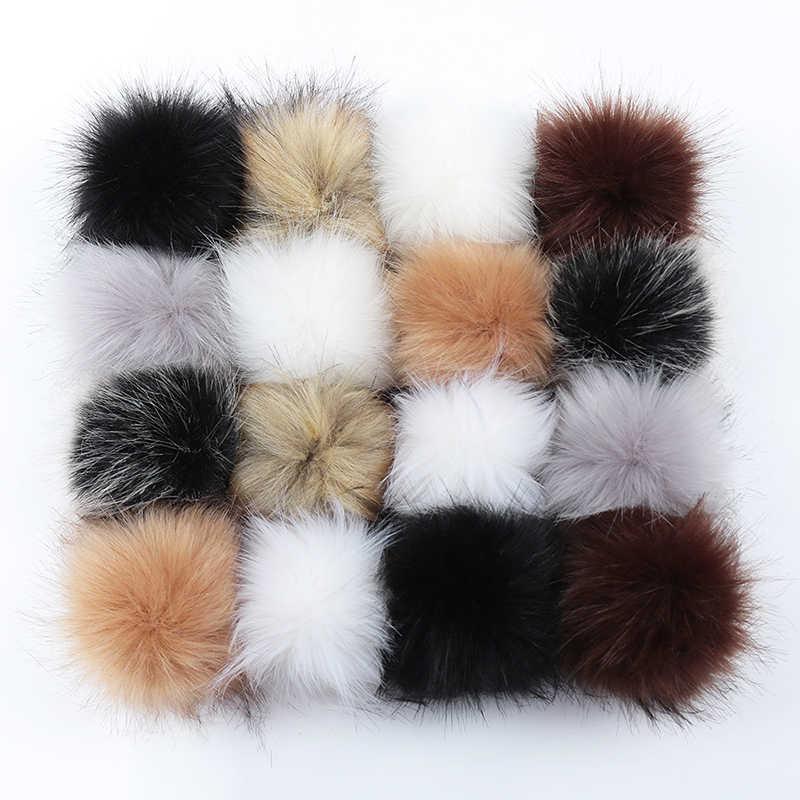 8-10 ซม.DIY Faux FUR Pompoms Fox Raccoon ขน POM Poms ขนสัตว์ธรรมชาติ Pompon สำหรับหมวกกระเป๋ารองเท้าอุปกรณ์เสริมหัตถกรรม