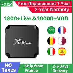 X96 Mini Android 7.1 Ip Tv Box Quad Core Set Top Box X96mini 1 Jaar Iptv België Nederlandse Algerije Arabisch iptv
