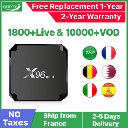 X96 mini Android 7.1 France IP TV Box Quad Core QHDTV Europe décodeur X96mini 1 an IPTV belgique néerlandais français arabe IPTV