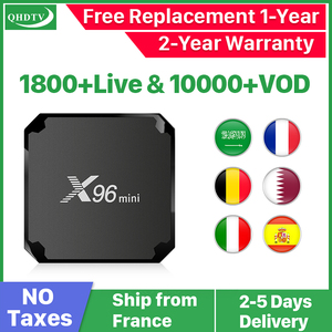 X96 mini Android 7.1 France IP TV Box Quad Core QHDTV Set Top Box X96mini 1 Year IPTV Belgium Dutch French Algeria Arabic IPTV
