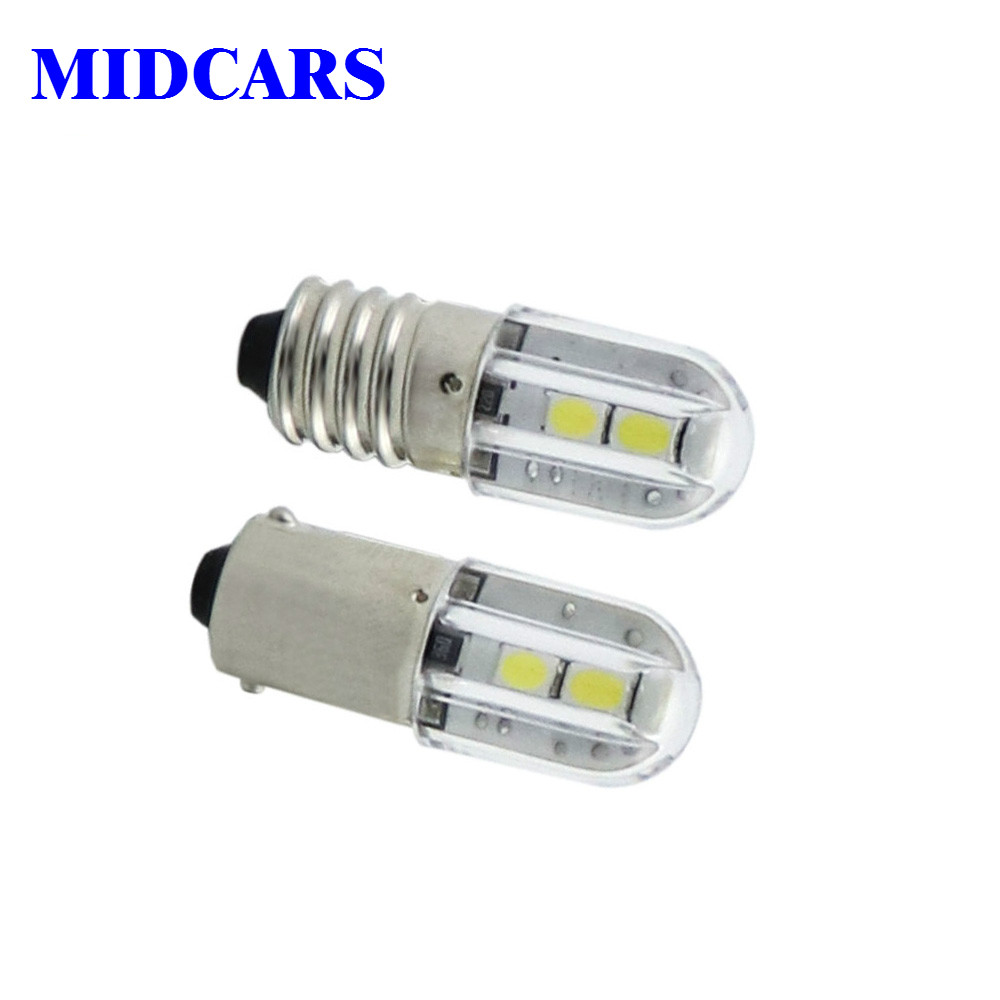 MIDCARS E10 Ba9s Led 6V T4w 1w Indicator Light Bulb 6.3V 12V 24V 48V 60V 120V 230V 1W 2835 4SMD Wholesale