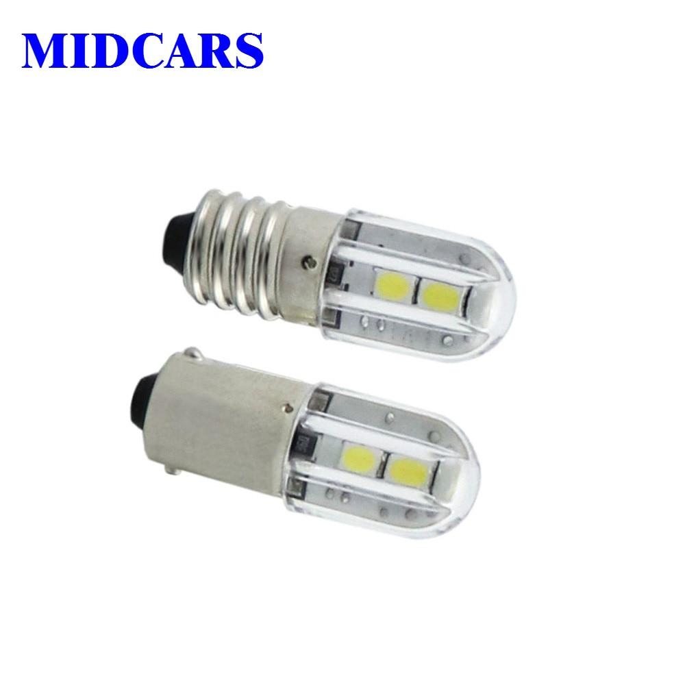 MIDCARS E10 Ba9s Led 6V T4w 1w Indicator Light Bulb 6.3V 12V 24V 48V 60V 120V 230V 1W 2835 4SMD Wholesale