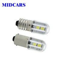MIDCARS E10 Ba9s led 6V T4w 1w Indicator Light Bulb 6.3V 12V