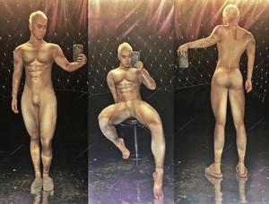 Muscle man nude bodysuit masculino convidado gogo sexy dj ds passarela nude impressão macacão sexy palco mostrar traje