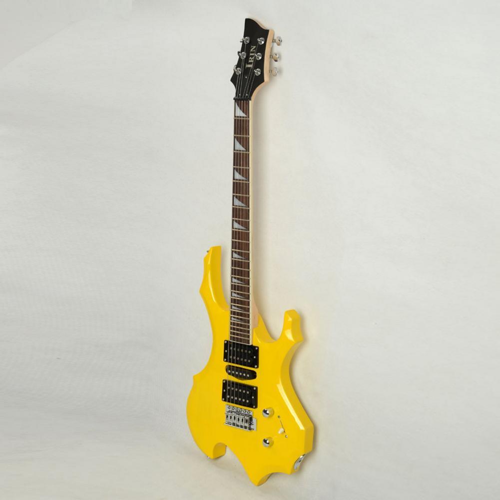 Hot guitare électronique guitares sac Pick Bar lien câble clé ensemble guitare Instruments de musique professionnel flamme Type jaune