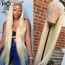 613 mel loira peruca dianteira do laço 13x4 peruca transparente do laço 613 peruca frontal do laço em linha reta perucas de cabelo humano para a peruca brasileira feminina
