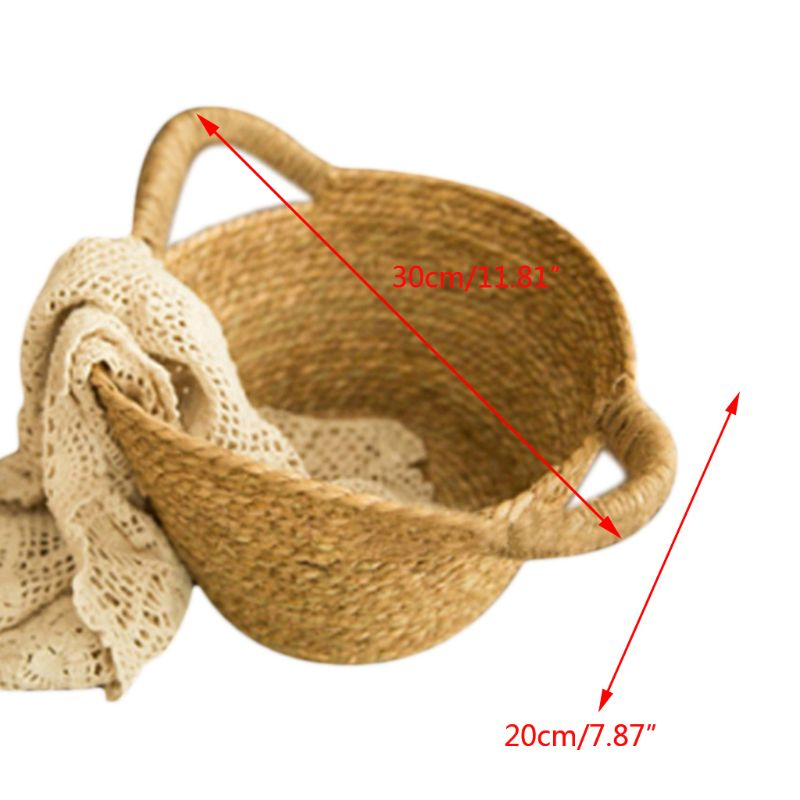 Newborn Photo Shooting Basket Children Baby Full Moon Photography Woven Baskets