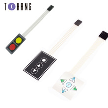 цена на 2/3/5 Key 1X2/1x3/1X5 Membrane Switch Keypad 1*2 1*3 1*5 Matrix Array Matrix Smart Car keyboard for arduino Diy Kit