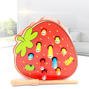 Catch Worm Baby Wooden Toys 3D