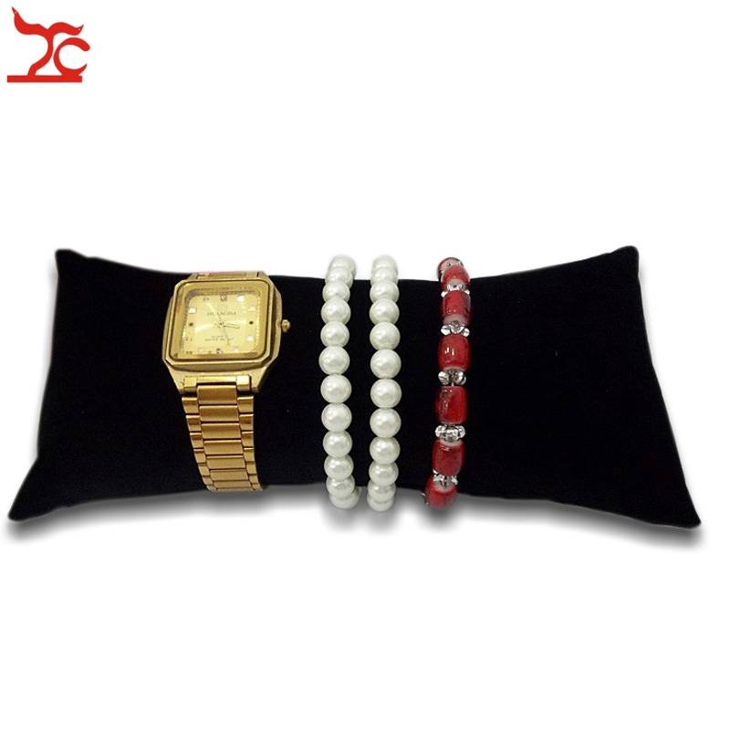 Retail Jewelry Display Bracelet Watch Anklet  Bangle Chain Large Pillow Black Velvet Holder