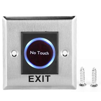 Interruptor con Sensor infrarrojo sin contacto botón de salida de puerta sin contacto con retroiluminación para Control de acceso caliente