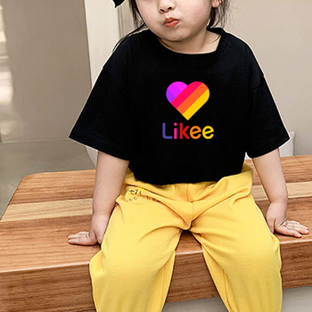 LIKEE Clothes Baby T-shirt Kids Short Sleeve T Shirt Likee Girls Top Boy Cotton Girl Children Summer