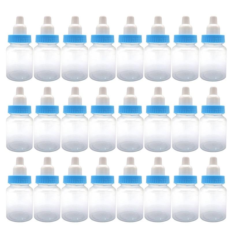 3.5-Inches Baby Bottle Shower Favor,Mini Plastic Candy Bottle,Baby Shower Supplies Boy Girl Newborn Baby Baptism Birthday Part