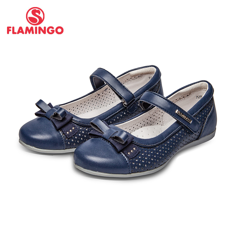 School shoes Flamingo 72T-XY-0287 shoes for girls leather insole shoes for children 30-36 # flamingo new children shoes spring