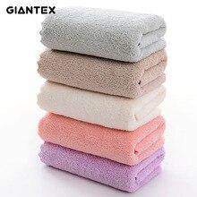 GIANTEX Coral Velvet Cut Edge Towel Plain Wash Soft Face Towel For Home Polyester Bath Towels For Bathroom